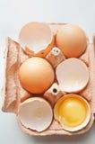 φρέσκος ακατέργαστος αυγών Στοκ εικόνα με δικαίωμα ελεύθερης χρήσης