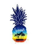 φρέσκος ανανάς Γειά σου καλοκαίρι Στοκ εικόνα με δικαίωμα ελεύθερης χρήσης