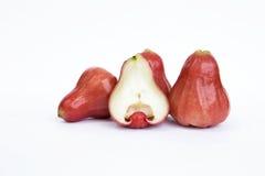 Φρέσκος αυξήθηκε μήλο στο άσπρο υπόβαθρο Στοκ φωτογραφία με δικαίωμα ελεύθερης χρήσης