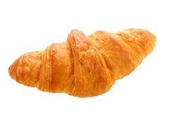 φρέσκος βουτύρου ολόκληρος σίτος croissant στο άσπρο υπόβαθρο στοκ φωτογραφίες
