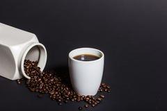 Φρέσκος και εύγευστος μαύρος καφές Στοκ φωτογραφία με δικαίωμα ελεύθερης χρήσης