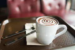Φρέσκος και καυτός καφές Στοκ εικόνα με δικαίωμα ελεύθερης χρήσης