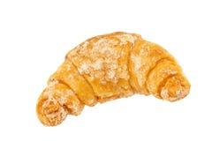Φρέσκος και νόστιμος croissant πέρα από το άσπρο υπόβαθρο, πορεία ψαλιδίσματος Στοκ Εικόνα