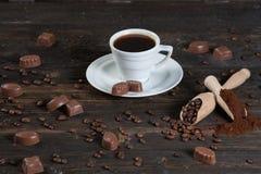 Φρέσκος καφές σπολών jf Στοκ Εικόνες