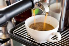 Φρέσκος καφές Espresso Στοκ φωτογραφία με δικαίωμα ελεύθερης χρήσης
