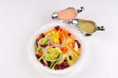 φρέσκος πίνακας σαλάτας &ka Στοκ Εικόνες