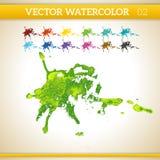Φρέσκος πράσινος διανυσματικός καλλιτεχνικός παφλασμός Watercolor Στοκ εικόνα με δικαίωμα ελεύθερης χρήσης