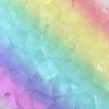 Φρέσκος δροσερός κύβος πάγου ουράνιων τόξων στοκ φωτογραφία με δικαίωμα ελεύθερης χρήσης