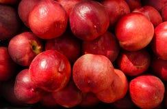 Φρέσκος στενός επάνω νεκταρινιών Ζωηρόχρωμο υπόβαθρο φρούτων Στοκ φωτογραφία με δικαίωμα ελεύθερης χρήσης