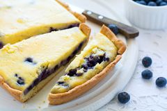 φρέσκος χρόνος τσαγιού φραουλών πορσελάνης πιάτων της Κίνας Σπιτικό cheesecake βακκινίων, φλυτζάνια του τσαγιού, καρύδια και μούρ Στοκ φωτογραφία με δικαίωμα ελεύθερης χρήσης