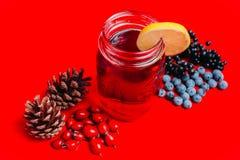 φρέσκος χρόνος τσαγιού φραουλών πορσελάνης πιάτων της Κίνας Υπόβαθρο Στοκ φωτογραφίες με δικαίωμα ελεύθερης χρήσης