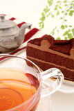 φρέσκος χρόνος τσαγιού φραουλών πορσελάνης πιάτων της Κίνας Στοκ εικόνες με δικαίωμα ελεύθερης χρήσης