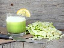 Φρέσκος χυμός λάχανων Στοκ Φωτογραφίες