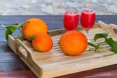 Φρέσκος χυμός από τα φρούτα γρύλων μωρών για τις καλές υγείες Στοκ Εικόνες
