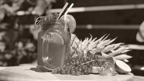 Φρέσκος χυμός των βακκίνιων με τον ανανά φιλμ μικρού μήκους