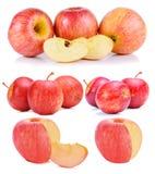 Φρέσκο άσπρο υπόβαθρο μήλων Στοκ Εικόνα