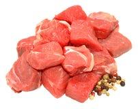 Φρέσκο ακατέργαστο χωρισμένο σε τετράγωνα βόειο κρέας στοκ εικόνες με δικαίωμα ελεύθερης χρήσης