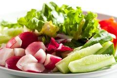 φρέσκο απομονωμένο λευκό λαχανικών πιάτων ανασκόπησης Στοκ φωτογραφία με δικαίωμα ελεύθερης χρήσης