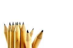 φρέσκο απομονωμένο ιδέες λευκό μολυβιών ανασκόπησης Στοκ Εικόνα