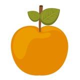 Φρέσκο απομονωμένο σχέδιο εικονιδίων της Apple Στοκ Εικόνες