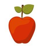 Φρέσκο απομονωμένο σχέδιο εικονιδίων της Apple Στοκ Φωτογραφία