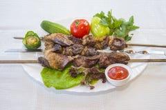 Φρέσκο αρνί kebabs Στοκ φωτογραφία με δικαίωμα ελεύθερης χρήσης