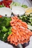 Φρέσκο λαχανικό με την εμβύθιση Στοκ Εικόνες