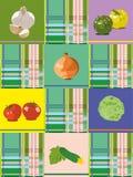 φρέσκο λαχανικό ντοματών κολοκυθιών ανασκόπησης Στοκ εικόνες με δικαίωμα ελεύθερης χρήσης