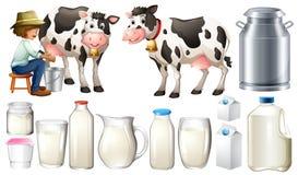 φρέσκο γάλα ελεύθερη απεικόνιση δικαιώματος