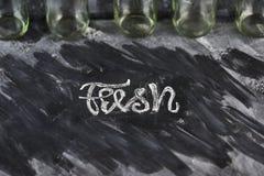 Φρέσκο γράψιμο σε έναν πίνακα Στοκ φωτογραφία με δικαίωμα ελεύθερης χρήσης