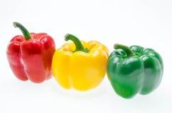 Φρέσκο γλυκό πιπέρι που απομονώνεται στο άσπρο υπόβαθρο Στοκ Φωτογραφίες