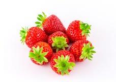φρέσκο λευκό φραουλών αν Στοκ φωτογραφία με δικαίωμα ελεύθερης χρήσης