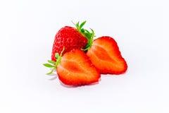 φρέσκο λευκό φραουλών αν Στοκ φωτογραφίες με δικαίωμα ελεύθερης χρήσης