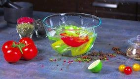 φρέσκο ιαπωνικό λαχανικό σαλάτας τροφίμων φιλμ μικρού μήκους