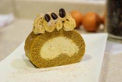 Φρέσκο κέικ ρόλων Στοκ Φωτογραφίες