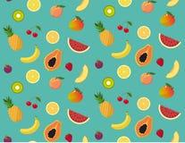 Φρέσκο και ζωηρόχρωμο σχέδιο θερινών φρούτων Ελεύθερη απεικόνιση δικαιώματος