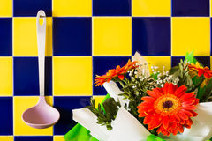 Φρέσκο και κόκκινο gerbera την ημέρα της μητέρας Στοκ Εικόνες