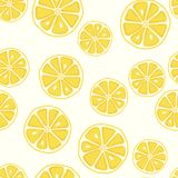 Φρέσκο και yummy κίτρινο άνευ ραφής σχέδιο λεμονιών στοκ εικόνα