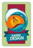 φρέσκο καλοκαίρι σχεδί&omicron Στοκ εικόνα με δικαίωμα ελεύθερης χρήσης