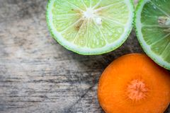 Φρέσκο καρότο λεμονιών Στοκ φωτογραφία με δικαίωμα ελεύθερης χρήσης