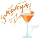 Φρέσκο κοκτέιλ με papaya Στοκ Φωτογραφίες
