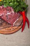 φρέσκο κρέας ακατέργαστ&omicro Στοκ Φωτογραφία