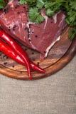 φρέσκο κρέας ακατέργαστ&omicro Στοκ εικόνες με δικαίωμα ελεύθερης χρήσης