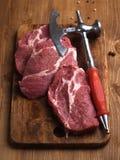 φρέσκο κρέας ακατέργαστ&omicron Στοκ εικόνα με δικαίωμα ελεύθερης χρήσης