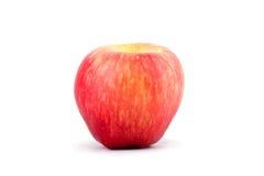 Φρέσκο κόκκινο μήλο στα άσπρα τρόφιμα φρούτων μήλων υποβάθρου υγιή που απομονώνονται Στοκ Φωτογραφίες