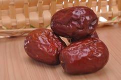 Φρέσκο κόκκινο jujube--τρόφιμα παραδοσιακού κινέζικου στοκ εικόνες με δικαίωμα ελεύθερης χρήσης