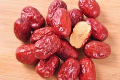 Φρέσκο κόκκινο jujube--τρόφιμα παραδοσιακού κινέζικου Στοκ Εικόνα