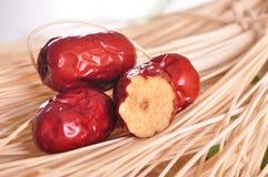 Φρέσκο κόκκινο jujube--τρόφιμα παραδοσιακού κινέζικου στοκ εικόνες