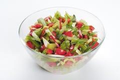 φρέσκο λαχανικό σαλάτας κύπελλων Στοκ Εικόνες