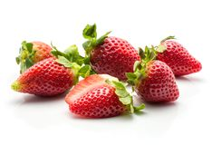 φρέσκο λευκό φραουλών στοκ φωτογραφίες